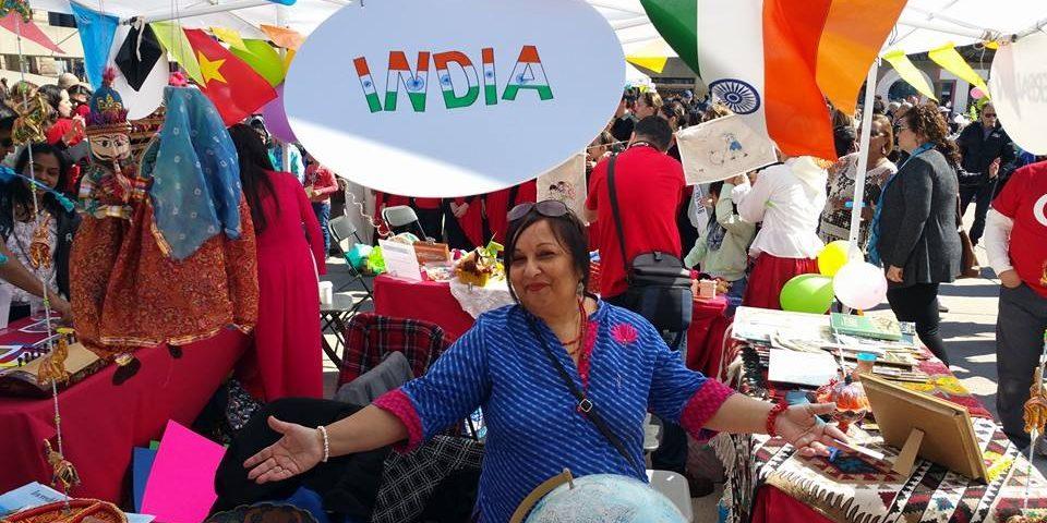 Representing India at International Children Day